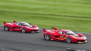 13 FXX-K's Racing around Silverstone | Ferrari 70th Anniversary Racing Days
