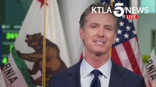 California gov. gavin newsom and other officials were providing updates on the state's response to covid-19 wildfires. #california #californiafires #covid19