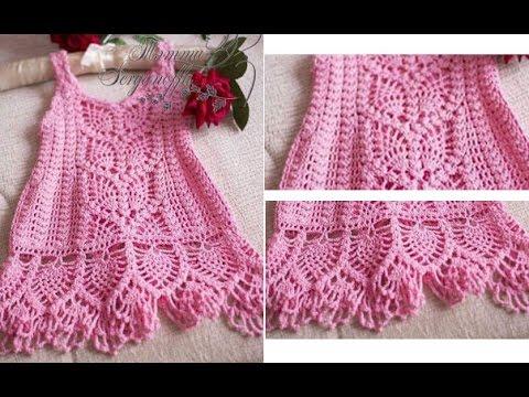Crochet Patterns For Free Crochet Baby Dress 1443 Youtube