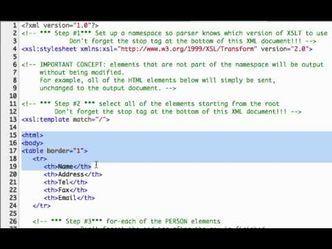 Using XSLT to Transform Your XML - YouTube