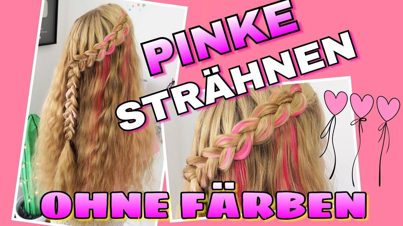 Pinke Strähnen Ohne Färben Farbige Extensions Coole Mädchen