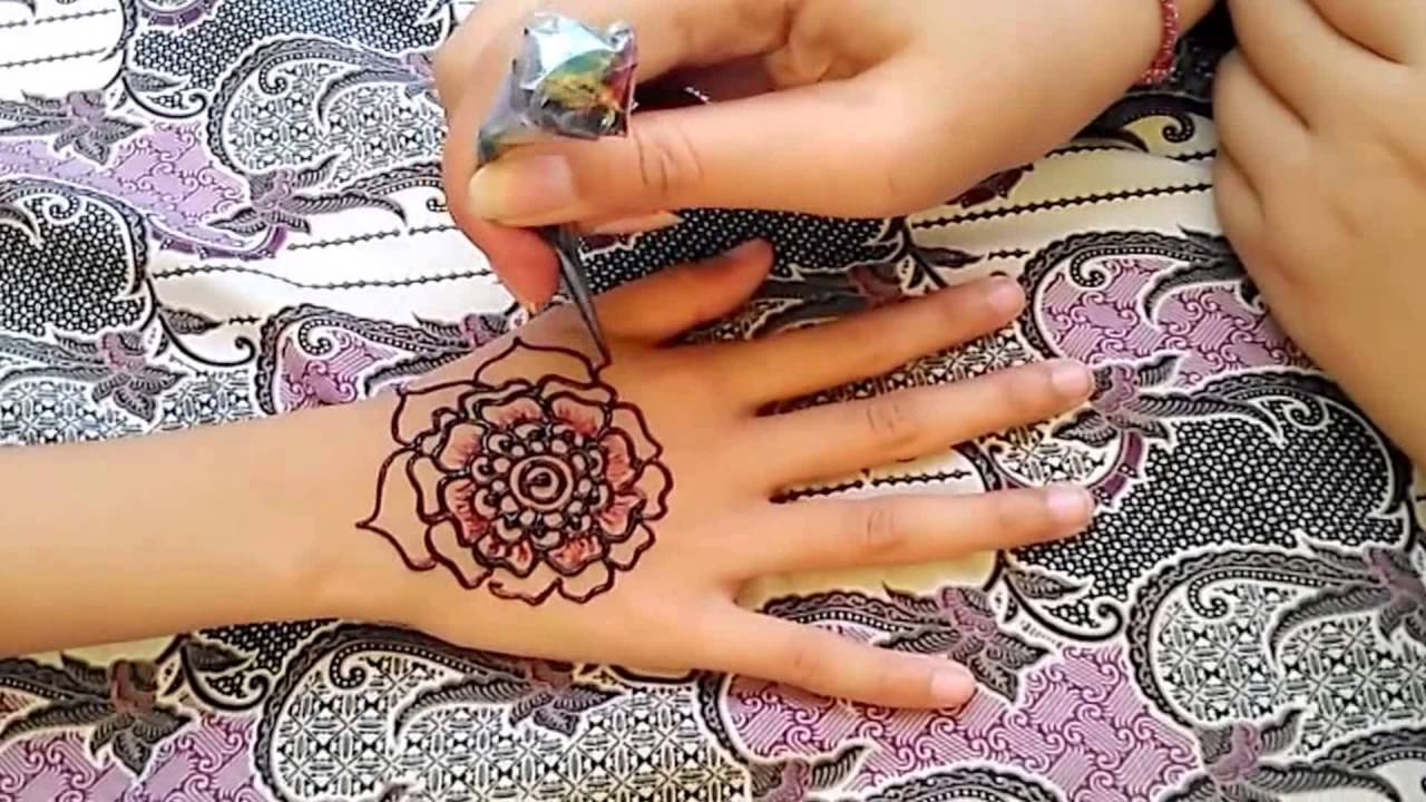 Ana Henna Big Flower Design How To Draw A Simple Henna