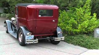 1929 Ford A Sedan Delivery Street Rod Turn Around Park