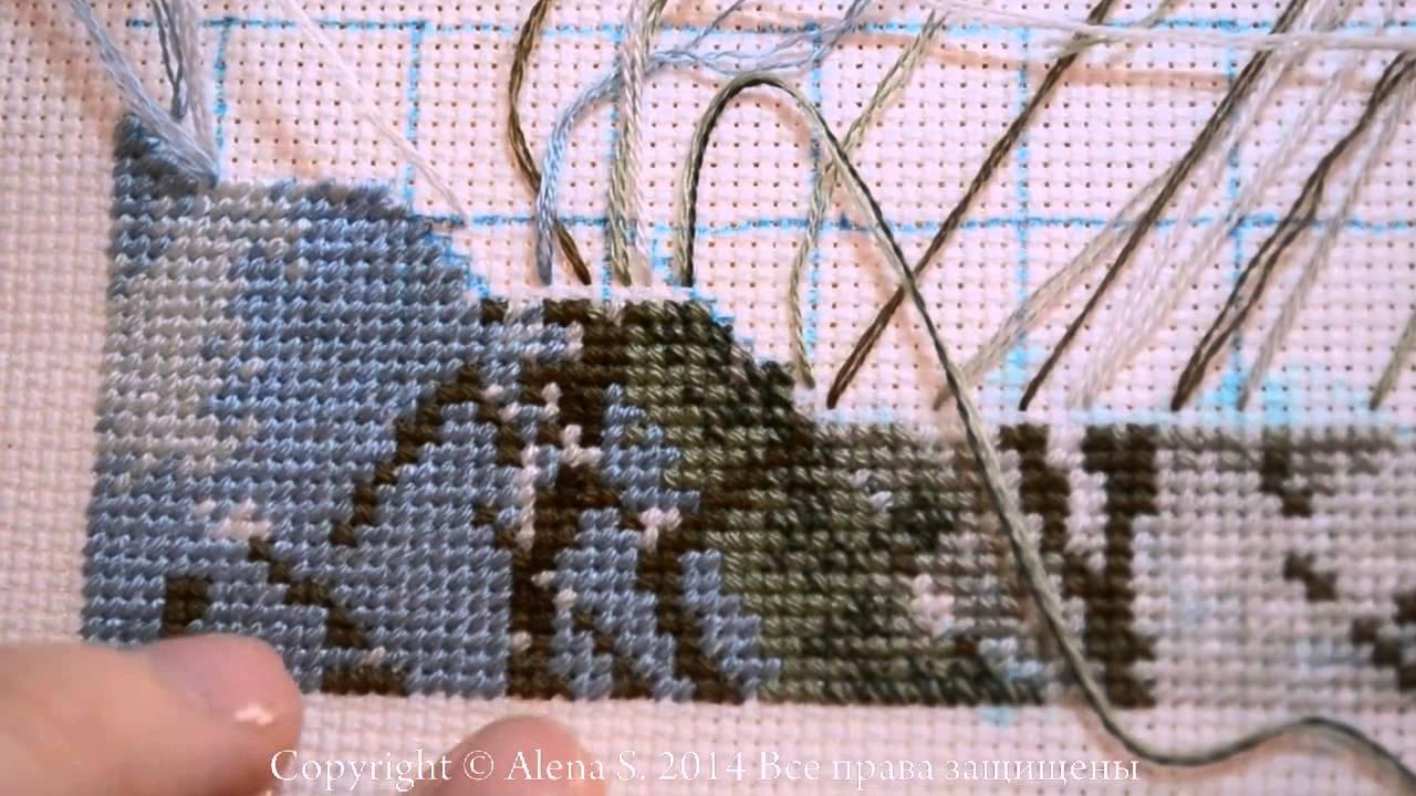 Видео уроки вышивки крестом парковкой