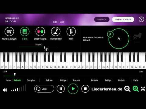 Die Lochis - Lieblingslied - Klavier lernen - Musiknoten - Akkorde