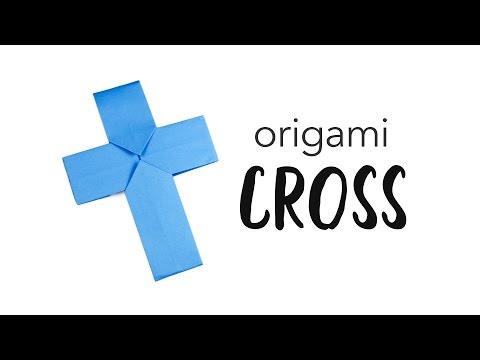 Easy Origami Cross / Crucifix Tutorial ✟ Paper Kawaii
