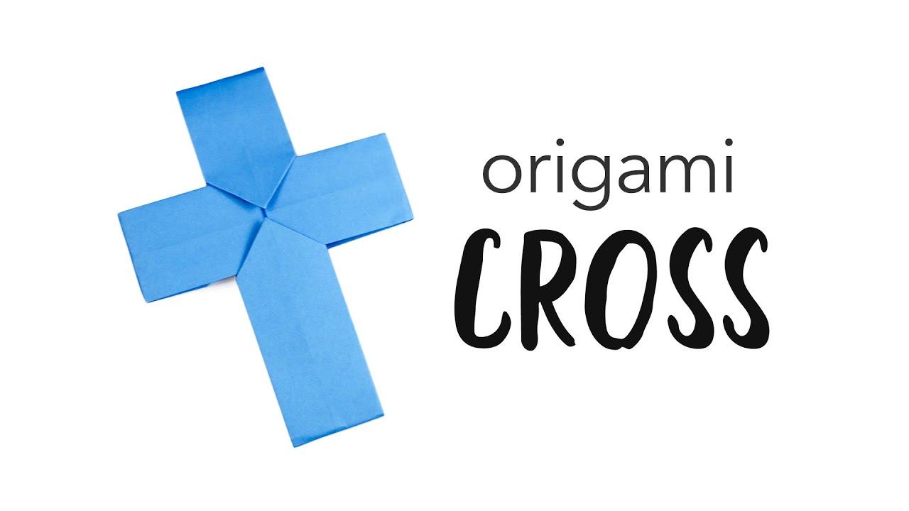 easy origami cross crucifix tutorial paper kawaii youtube