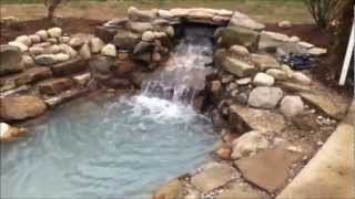 Natural Stone Pond W/ Waterfall : Envisions Landscape Construction & Design Llc