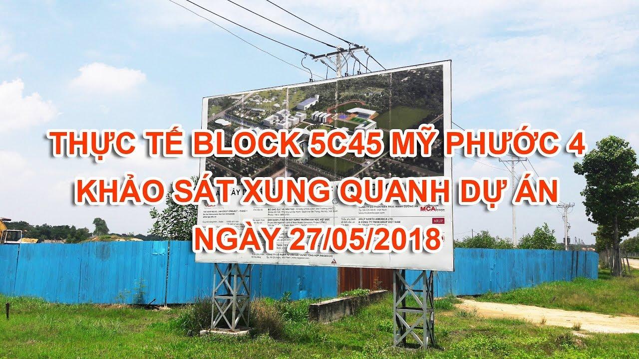 Video khảo sát thực tế block 5c45 Khu đô thị Mỹ Phước 4 , mặt tiền vành đai 4