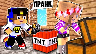 Майнкрафт но НУБ и ТОП 7 ПРАНКОВ над ПРО в Майнкрафте ТРОЛЛИНГ ЛОВУШКА Minecraft