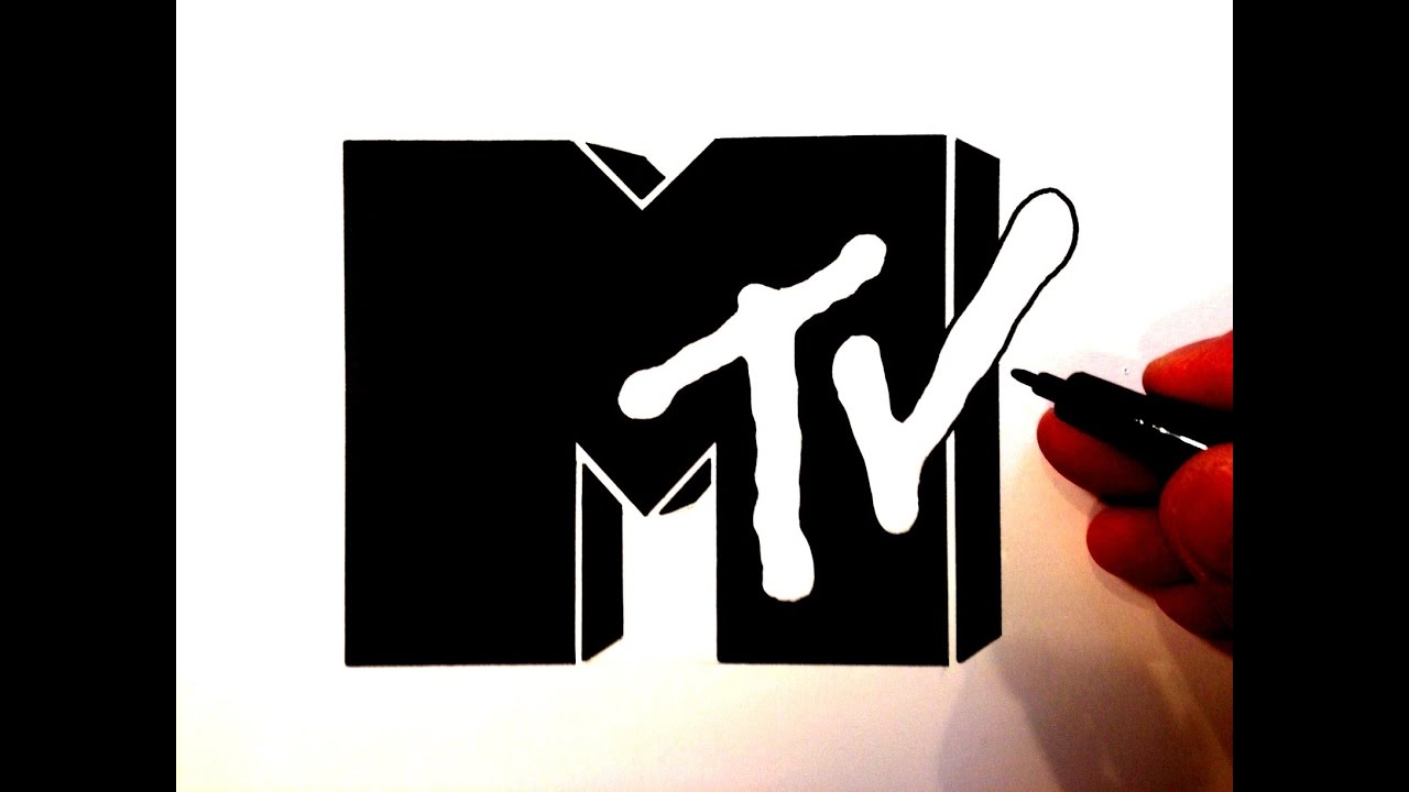 How To Draw The Mtv Logo Youtube