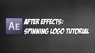 After Effects Tutorial l How to make a spinning logo or something spin!!