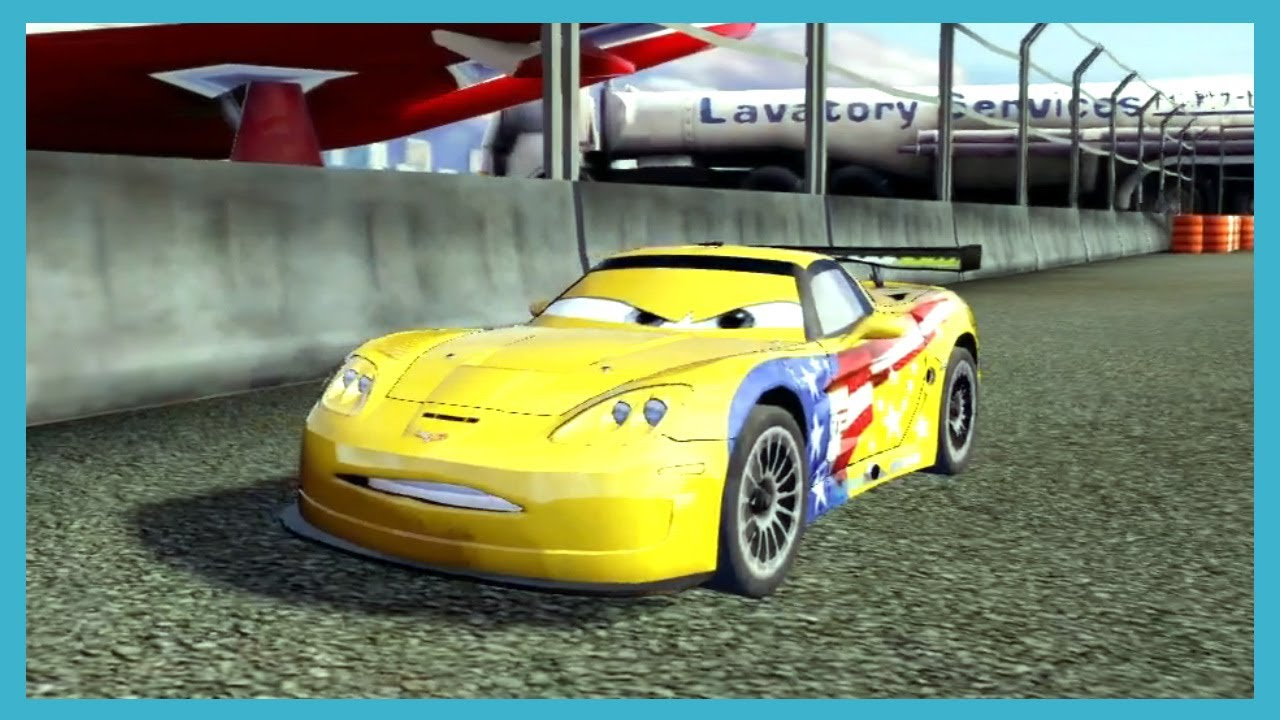 cars 2 the video game camo vs nigel vs jeff gorvette vs dj by