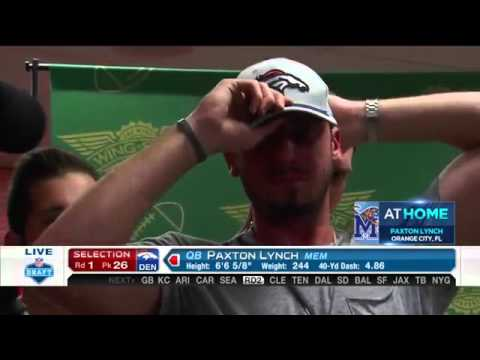 Paxton Lynch QB   Pick 26  Denver Broncos   2016 NFL Draft