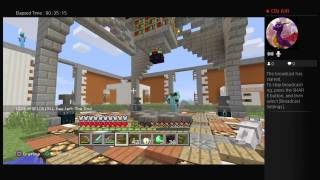 Minecraft PS4 first broadcast