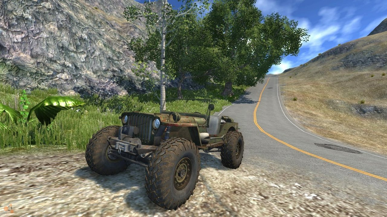 Beamng Drive Alpha Monster Offroad Jeep Bajajeep Crawler Mod Hd Youtube
