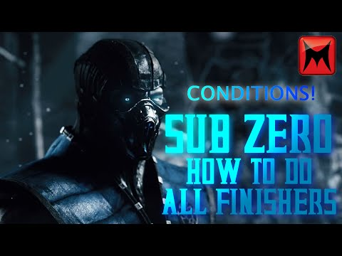 Mortal Kombat XL - Sub-Zero - How to do all Brutalities and Fatalities