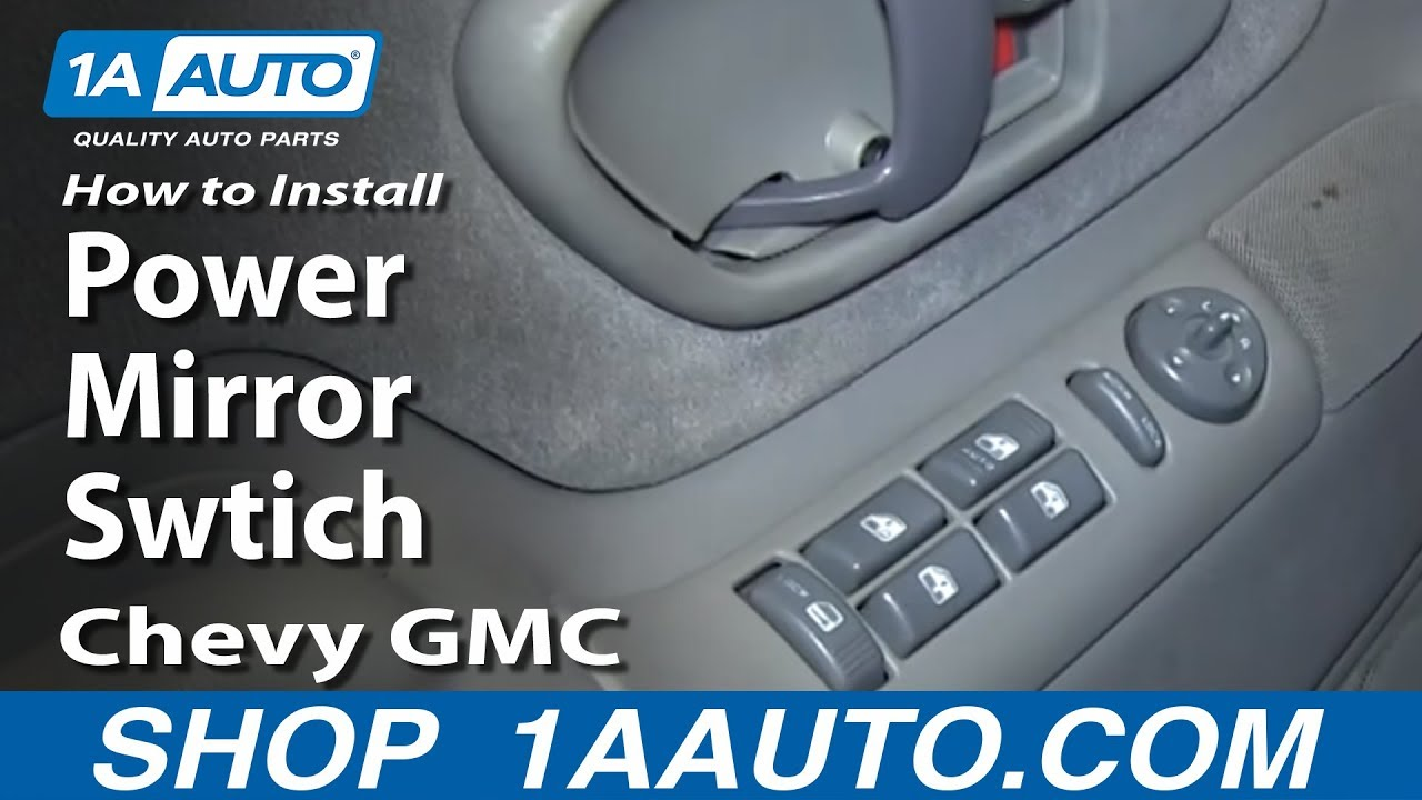 How To Install Replace Power Mirror Swtich 1996 99 Chevy Gmc K1500 1998 Tahoe Wiring Diagram C1500 Suburban
