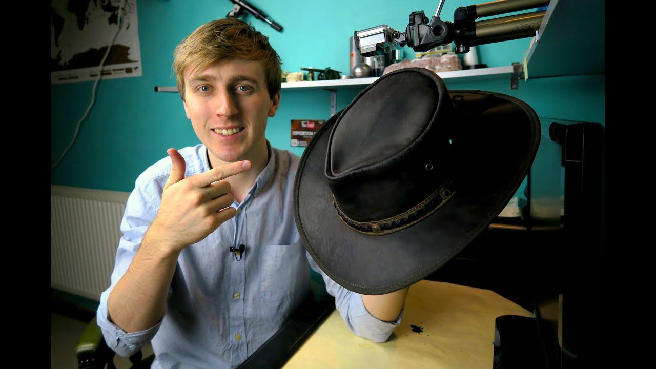 Barmah Foldaway Bronco Black Leather Waterproof Bush Hat Australia Gents Ladies