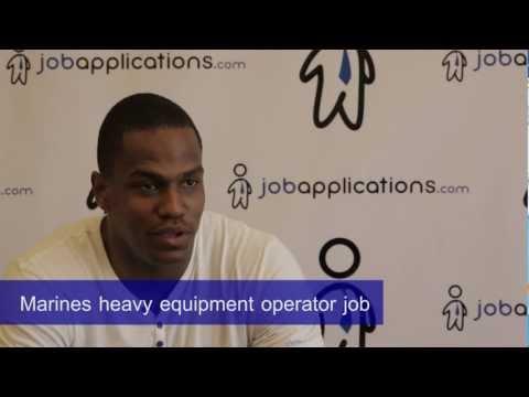U.S. Marine Corps Interview - Heavy Equipment Operator