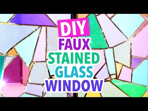 DIY Faux Stained Glass Window - #DormRoomTakeover - HGTV Handmade
