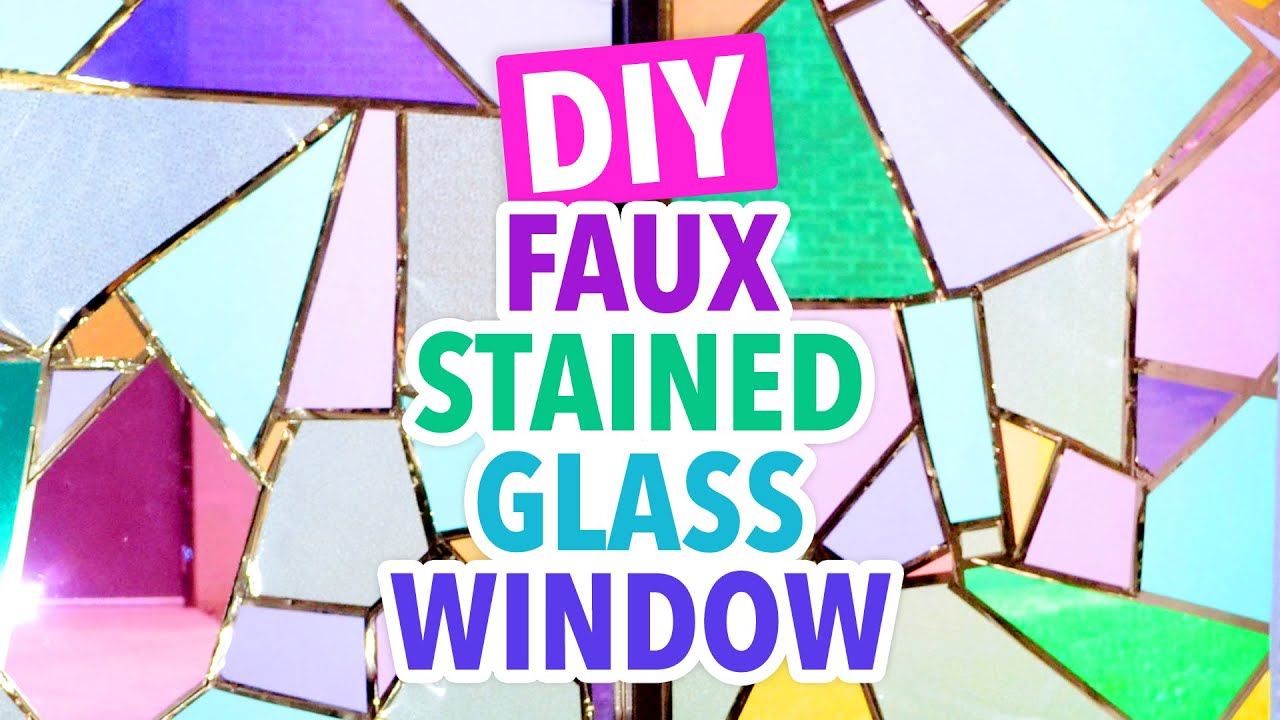 6dfb50498109 DIY Faux Stained Glass Window -  DormRoomTakeover - HGTV Handmade ...