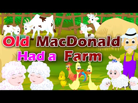 Old MacDonald Had A Farm | English Nursery Rhymes & Songs For Children | Kids Songs