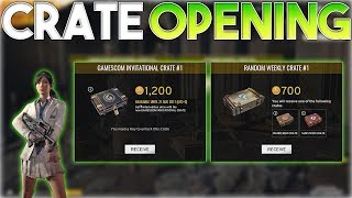Battlegrounds - GAMESCOM INVITATIONAL Crate Opening! (PUBG Crate Opening)