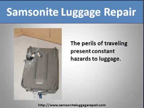 Samsonite Luggage Repair - YouTube