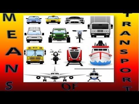 Means Of Transport For Children, Medios de Transporte en Inglés Para Niños (VIdeo Infantil)