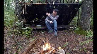 BUILDING THE LEAN TO – FOUNDING A BUSHCRAFT SURVIVAL BASE CAMP (3 DAYS) SOLO ADVENTURE