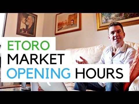 Etoro - When Do The Markets Open? (Exchange Trading Opening Hours)