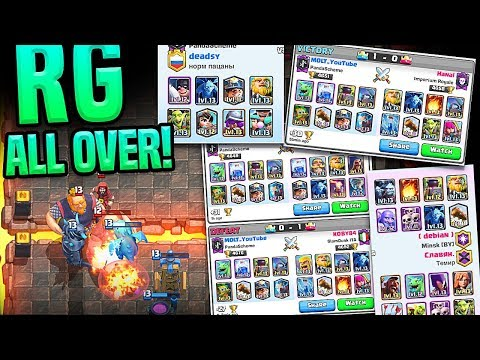 RG is EVERYWHERE!!! - Clash Royale - BALANCE CHANGES