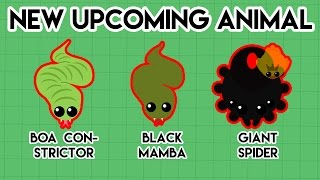 MOPE.IO - NEW UPCOMING ANIMALS // BOA CONSTRICTOR , BLACK MAMBA , GIANT SPIDER !