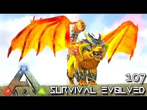 ARK: SURVIVAL EVOLVED - MYTH MANTICORE EMPEROR & TEK POISON E107 !!! ( ARK EXTINCTION CORE MODDED )