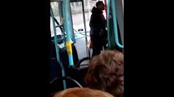 Glasgow bus outside the sheriff court