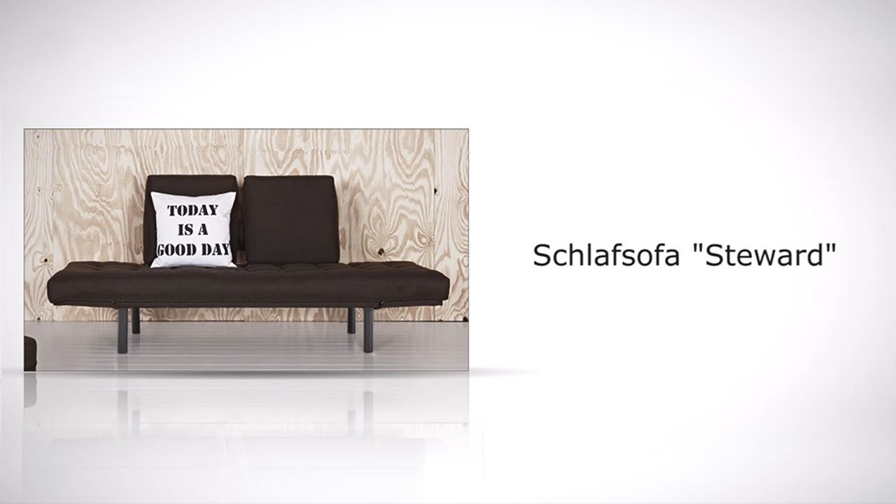 wandelbares schlafsofa mit verstellbaren armlehnen steward. Black Bedroom Furniture Sets. Home Design Ideas