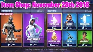 "Fortnite Item Shop"" ELECTRO SWING RETURNS! (November 28, 2018) Fortnite Battle Royale"
