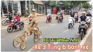 Chạy Xe Đạp 6 bánh xe/TDG Vlog