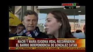Mauricio Macri y María Eugenia Vidal en González Catán - Crónica (6/5/2015)