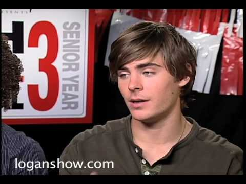 Logan interviews Zac Efron & Corbin Bleu for HSM3
