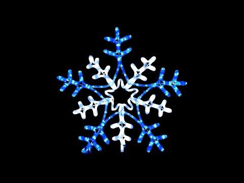 Rope Light Snowflake Blue cool white snowflake rope light silhouette 66cm youtube blue cool white snowflake rope light silhouette 66cm audiocablefo