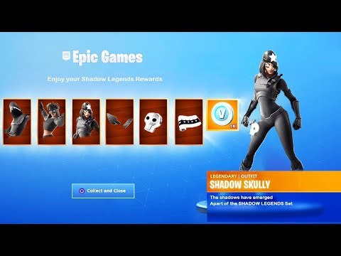 the New SHADOW LEGENDS REWARDS in Fortnite (6 FREE ITEMS)