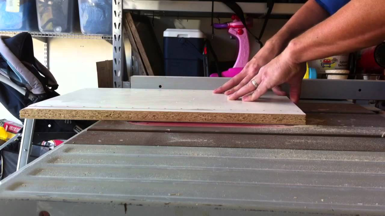 Cutting Melamine With A Diablo Blade Youtube