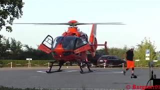 [HD] Christoph 34, Rettungshubschrauber Abendlandung + Start am Klinikum Stralsund