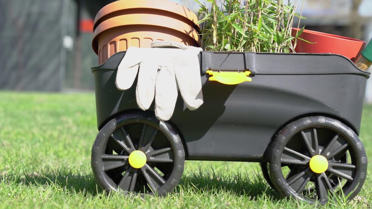 Sgabello da giardinaggio contenitore con ruote youtube