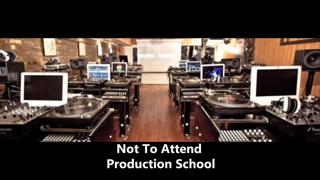 5 Reasons Not To Attend Music Production School