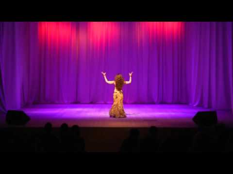 Drum solo improvisation/ bellydance by Olga Taifi (Int.fest EURASIA RAKS 2016)