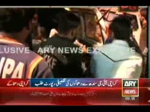 Twin bomb explosions in a Shia area of Pakistan's southern city of K