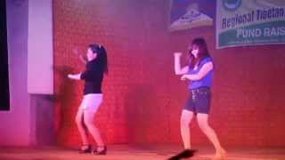 Dance remix by Tibetan Youth Hostel Delhi girls during RTYC Delhi Fund Raising Concert